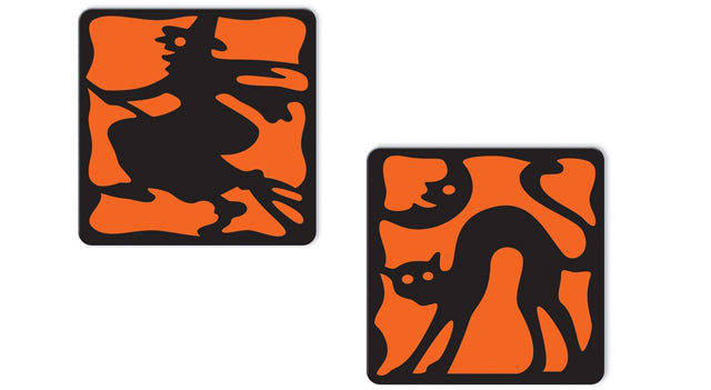 Vintage Halloween Silhouette Coasters Party Supplies