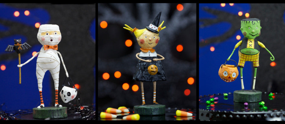 Lori Mitchell Halloween Figurines Group