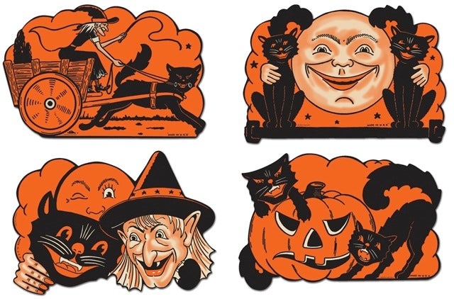 Vintage Halloween Cutouts from the 1950's