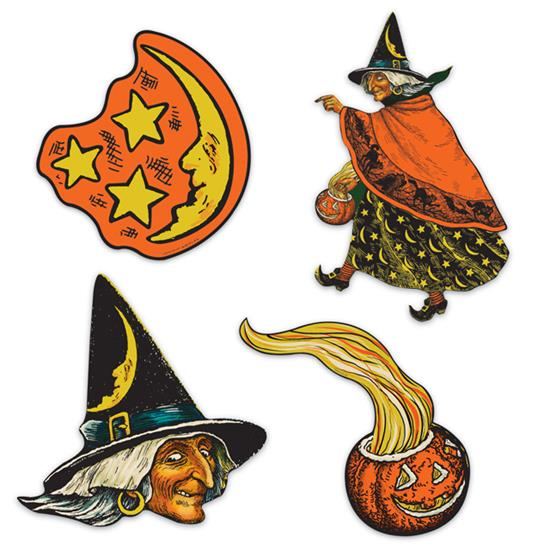 Vintage Halloween Cutouts by Beistle
