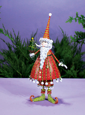 Dashing Santa Figurine
