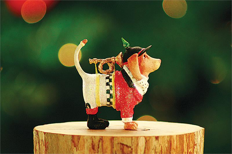 Mini Bugler Beagle Ornament