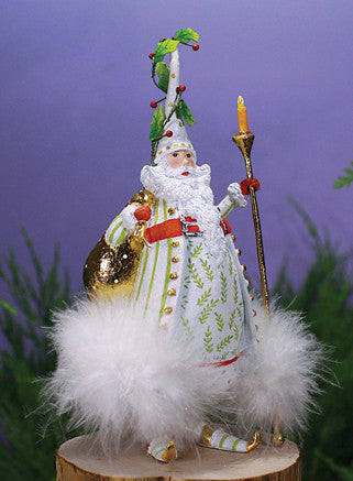 Candle Light Santa Ornament