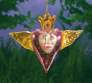 Patience Brewster Winged Heart Ornament