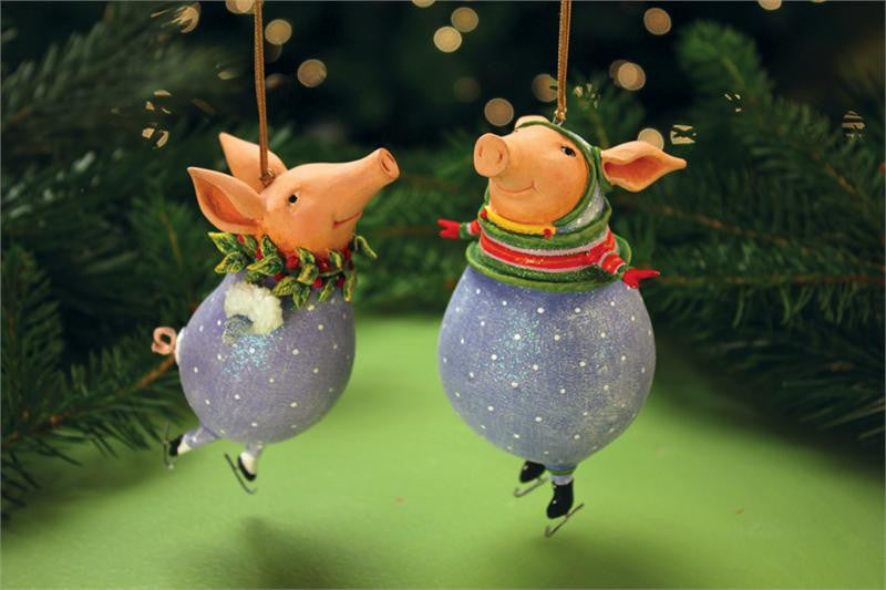 Fred & Esther Pig Ornaments