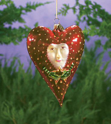 Red Heart with Star Ornament