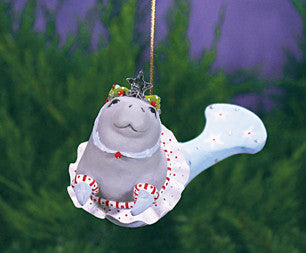 Mabel Manatee Ornament