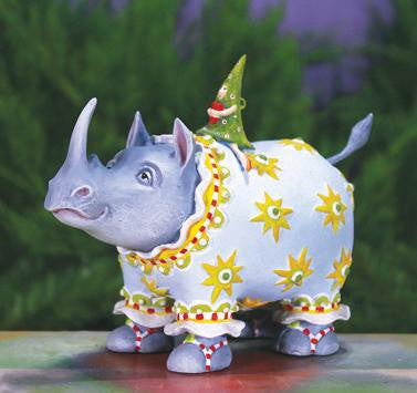 Roberta Rhino Ornament