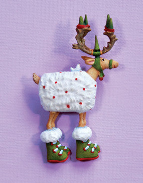 Dash Away Blitzen Reindeer Pin