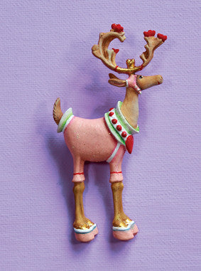 Dash Away Cupid Reindeer Pin