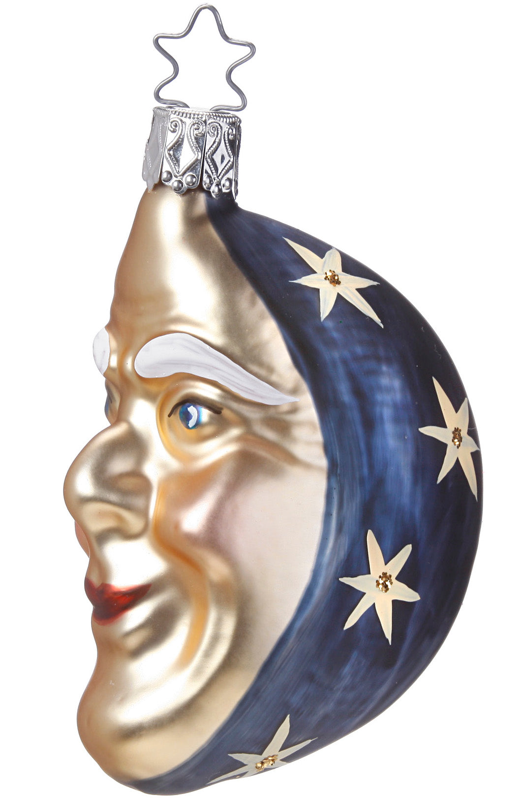 Ol' Blue Moon Christmas Ornament, Man in the Moon Ornaments