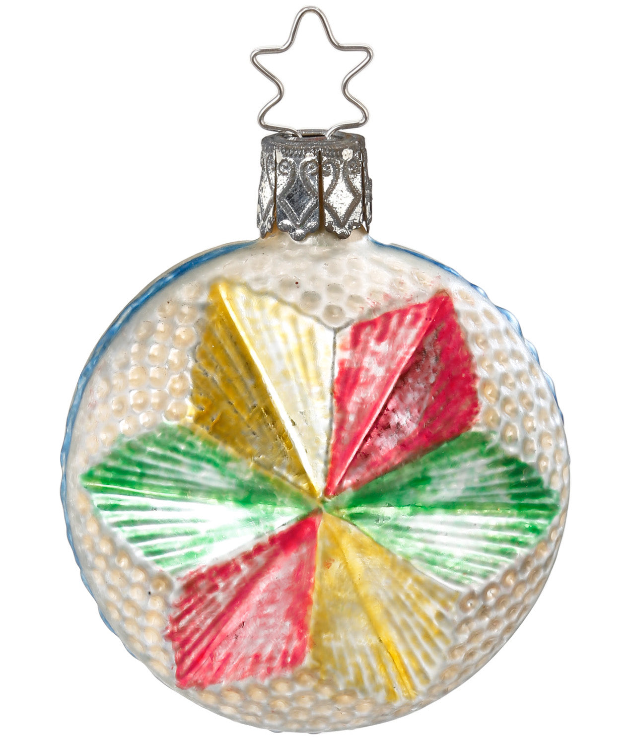 Vintage Reproduction Glass Star Ornament
