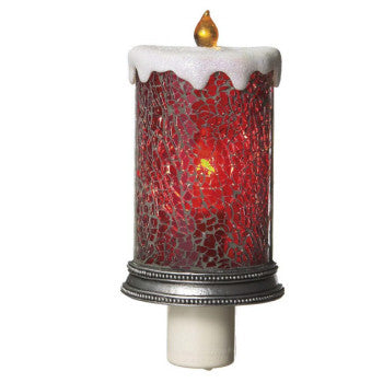 Mosaic Red Candle Night Light