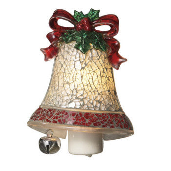 Mosaic Silver Bell Night Light