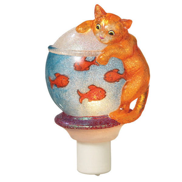 Cat on Fishbowl Night Light