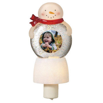 Snowman Photo Frame Shimmer Night Light