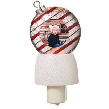 Red Stripe Ornament Photo Frame Night Light