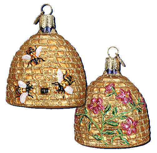 Bee Skep - Glass Beehive Ornament