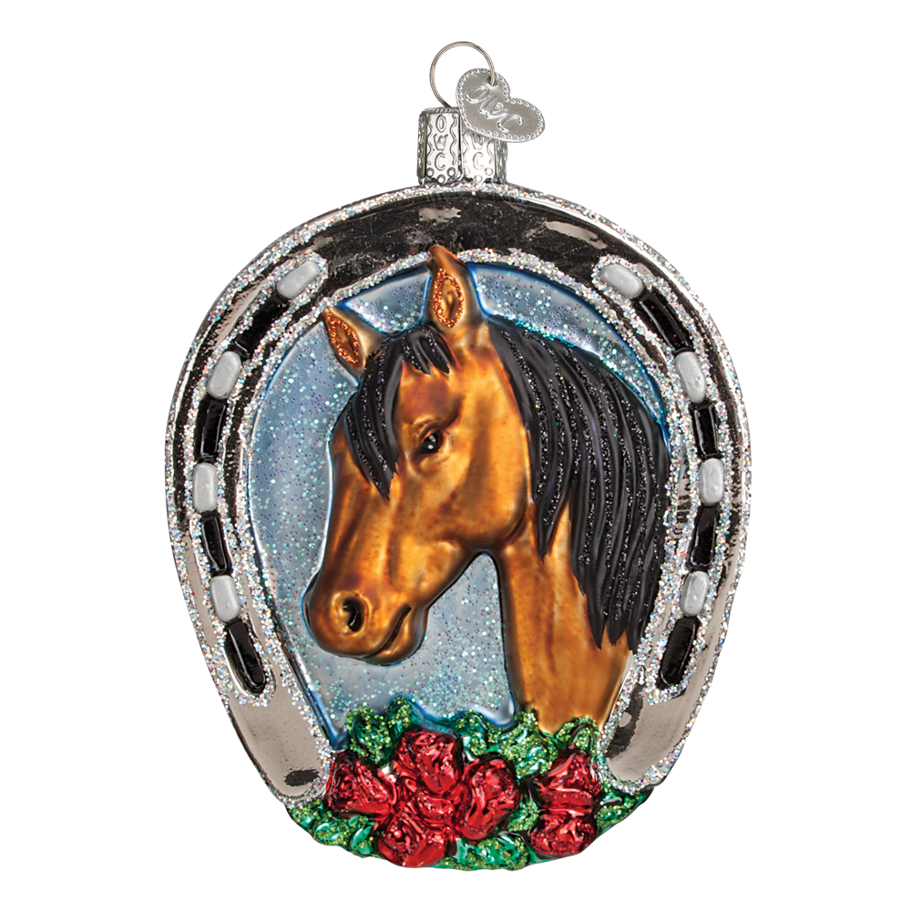 Winner Horseshoe Equestian Champion Ornament