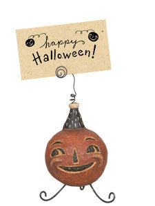 Jolly Jack-O-Lantern Announcement Holder