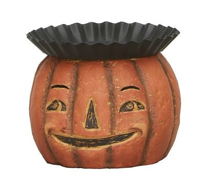 Jack O Lantern Head Candle Holder