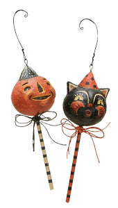 Cat and Jack Lollypop Ornaments
