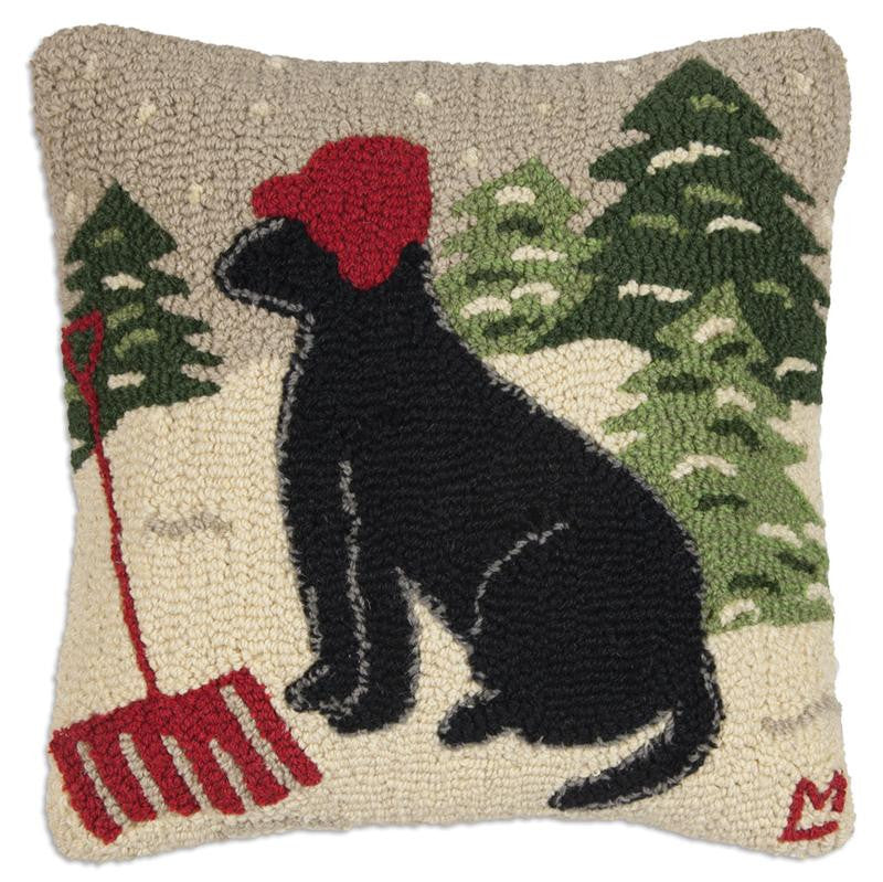 Happy for Snow Dog Pillow