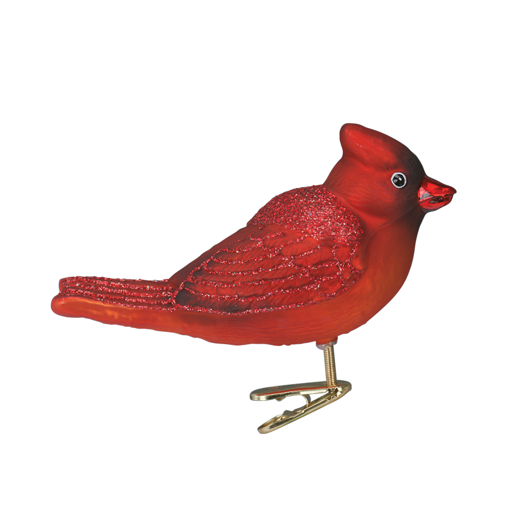 Red Winter Cardinal Ornament Clip