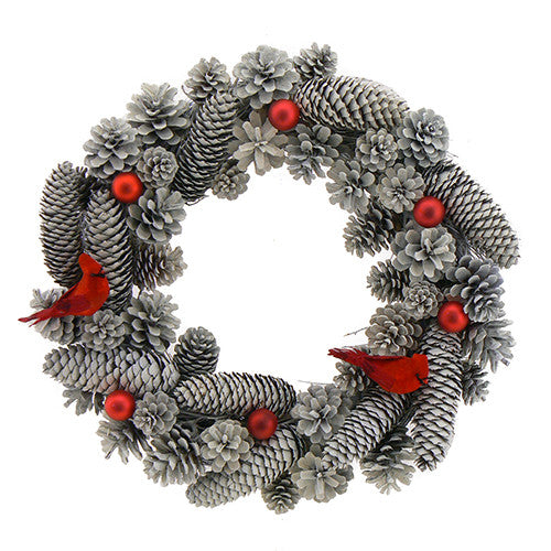 Frosty Cardinal Wreath