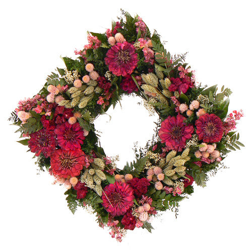 Zinnia Blush Wreath