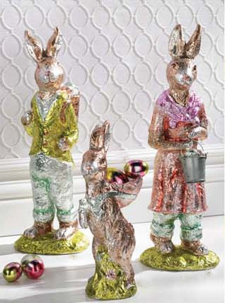 Faux Chocolate Foil Bunnies
