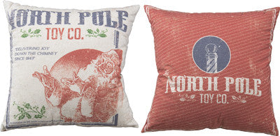 North Pole Toy Company Pillow