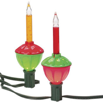Red and Green Bubble Lites Light String Set (7 lights per string)