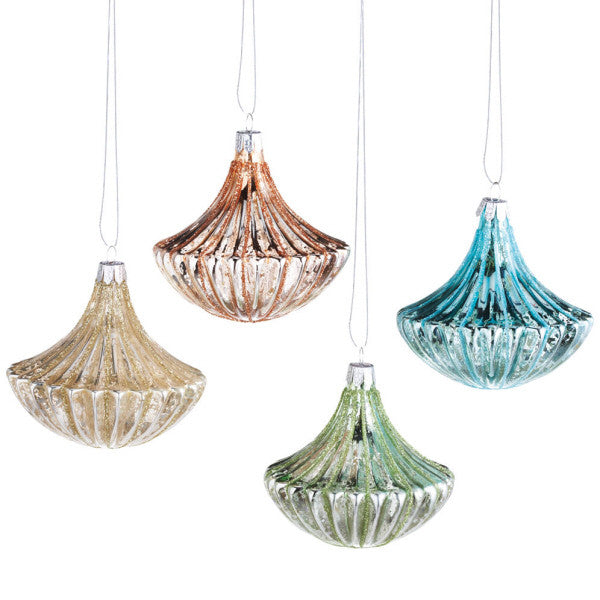 Pastel Glass Drop Ornaments