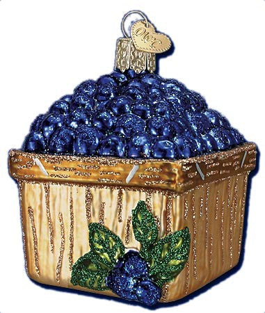 Basket of Blueberries Ornament