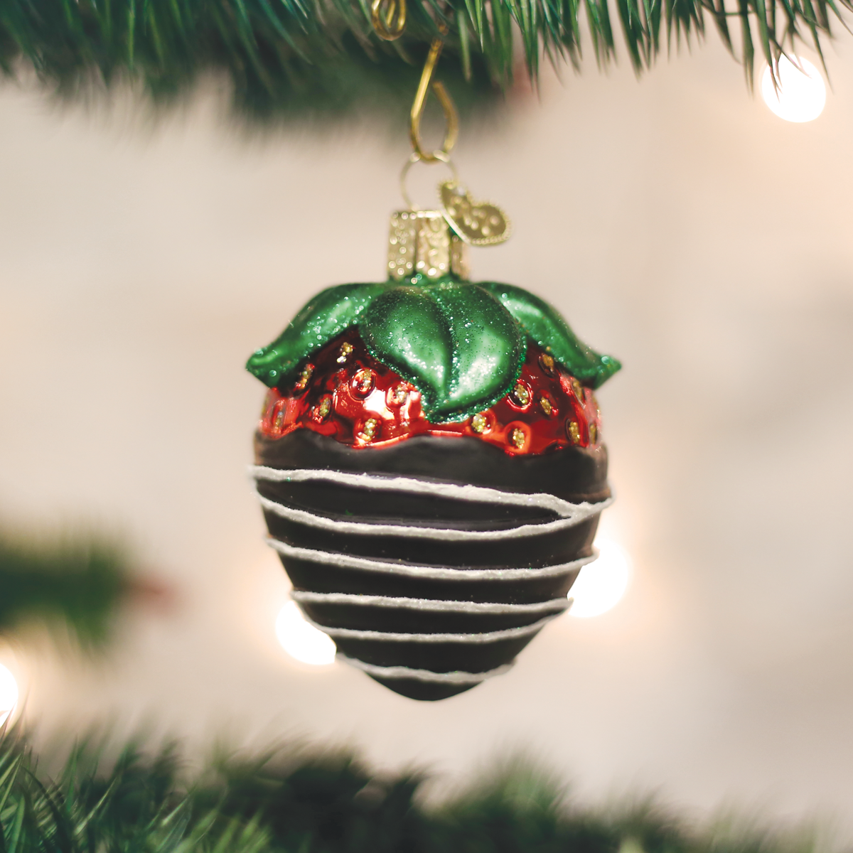 Chocolate Dipped Stawberry Ornament