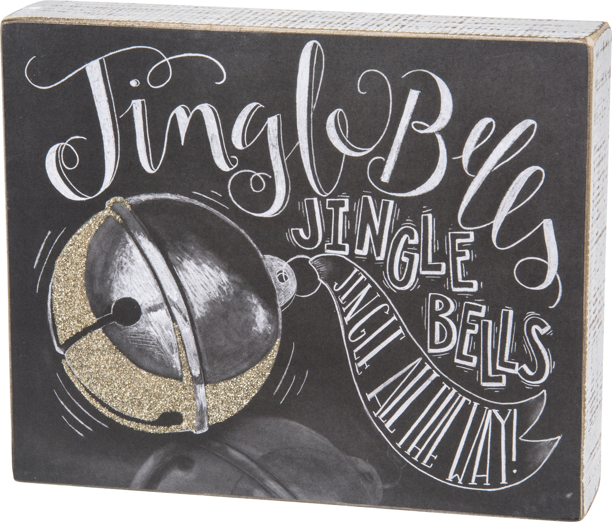 Jingle Bells Christmas Chalk Sign - Caroling Song