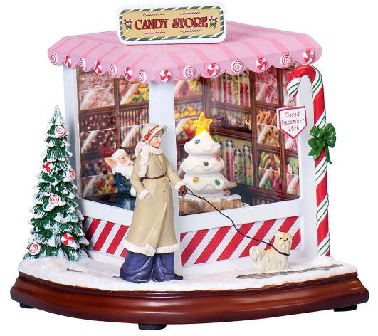 Musical Christmas Candy Shop - Christmas Music Box