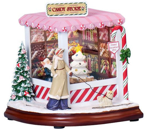 musical christmas candy shop christmas music box