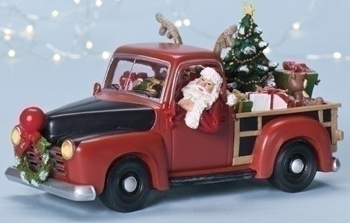 Santa Pickup Truck Music Box