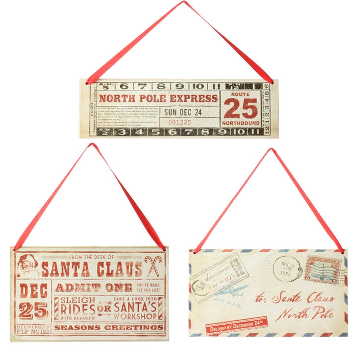 Santa Tickets and Letter Decorations