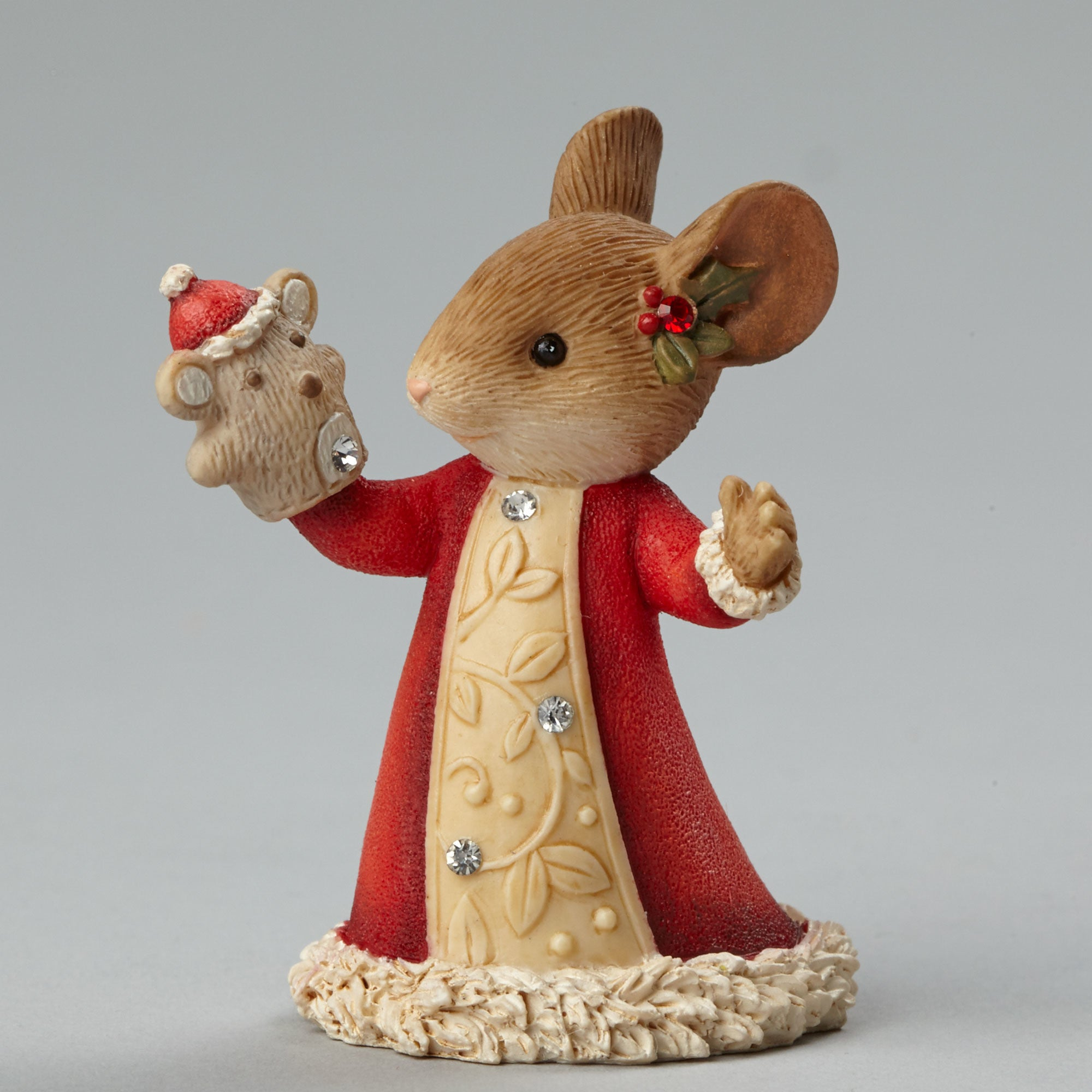 Christmas Mouse with Puppet Figurine