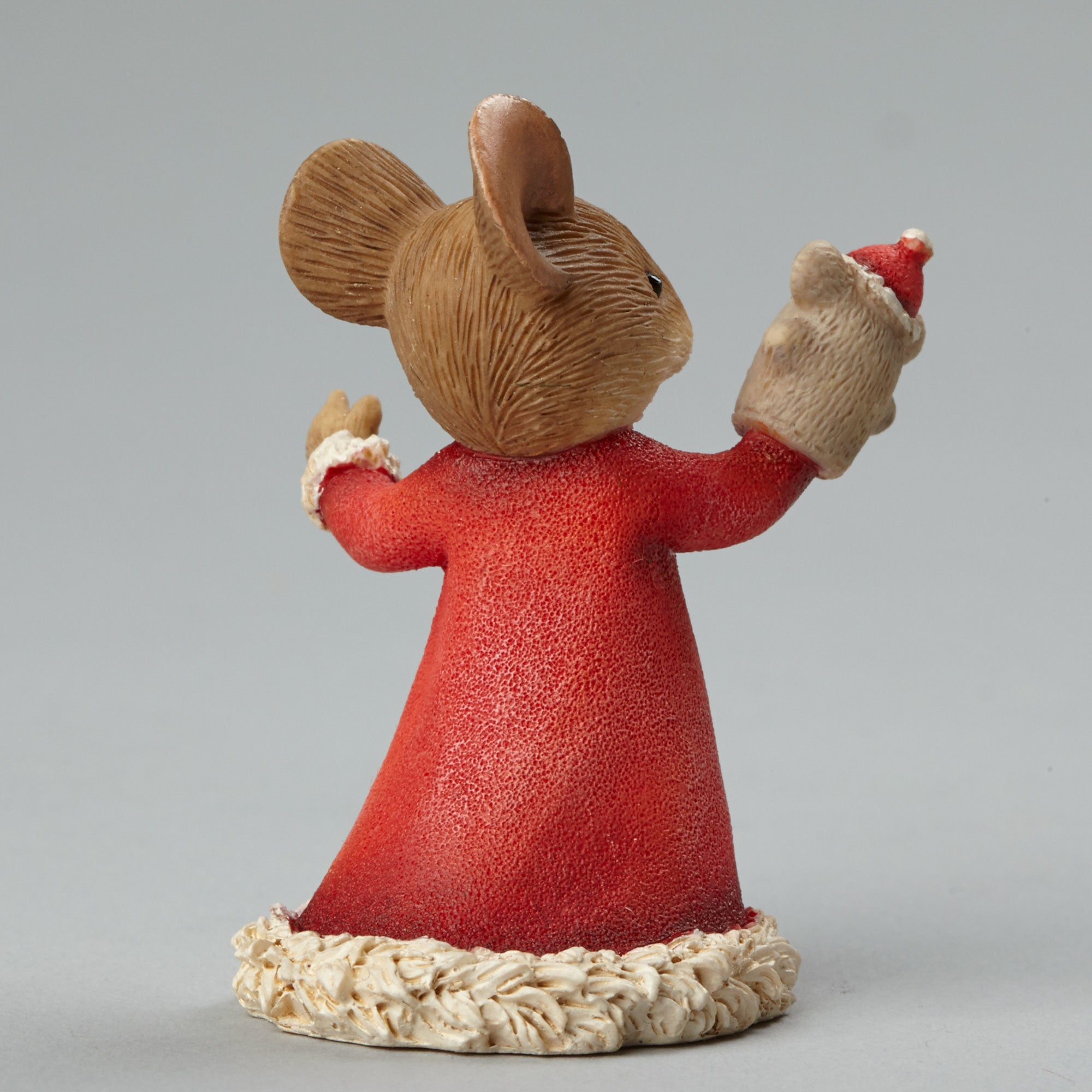 Christmas Mouse with Puppet Figurine - Backside