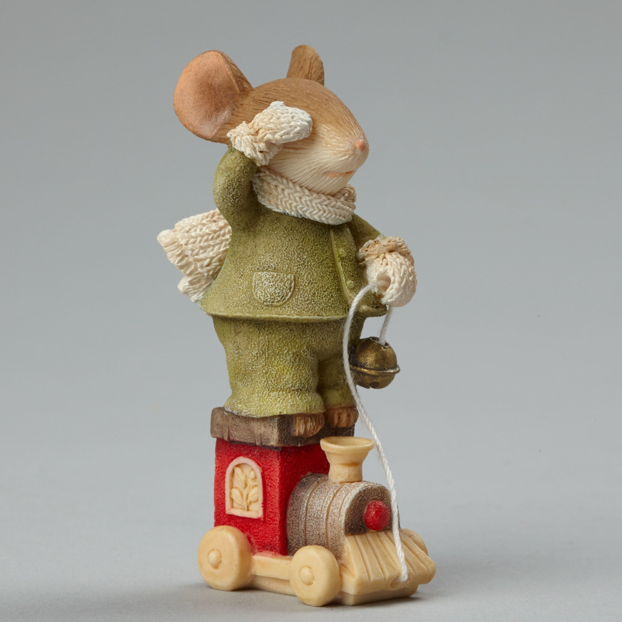 Mouse on Train Figurine by Heart of Christmas