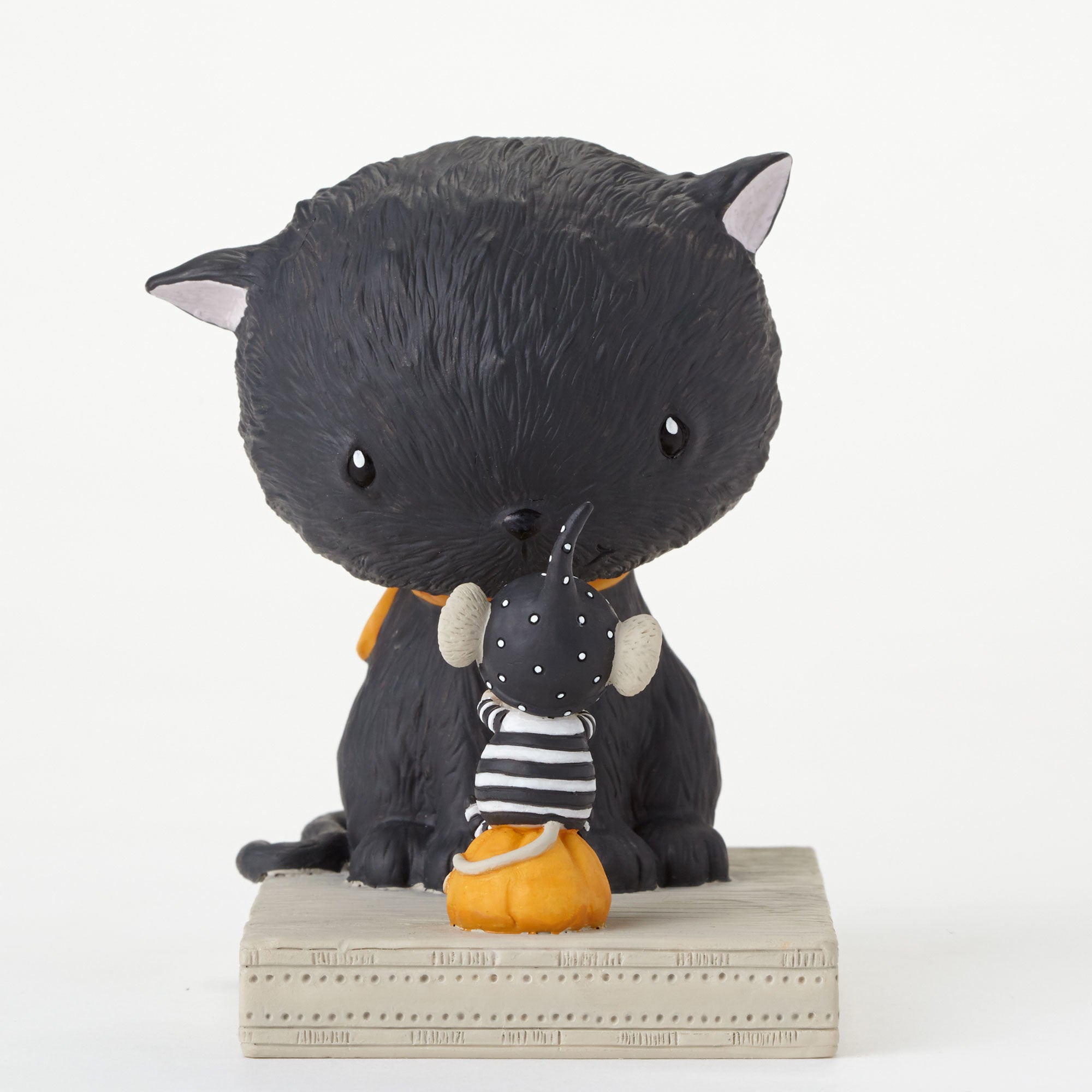 Stacey Yakula Halloween Cat & Mouse Figurine