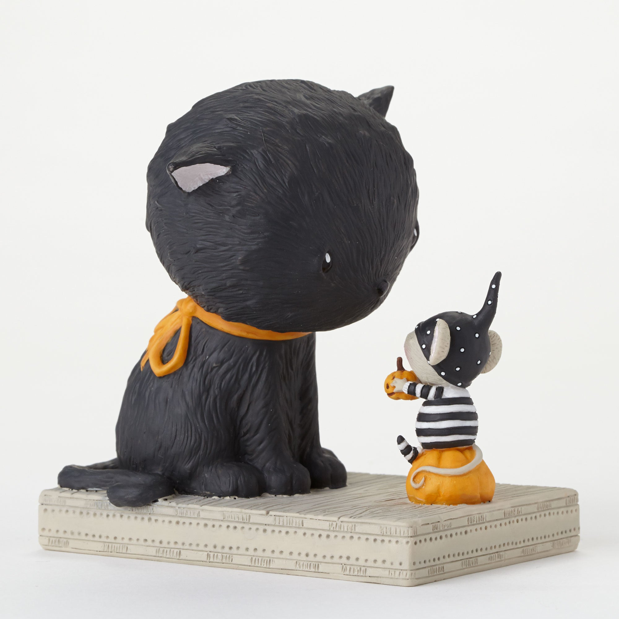 Black Cat & Mouse Halloween Figurine - Stacey Yacula