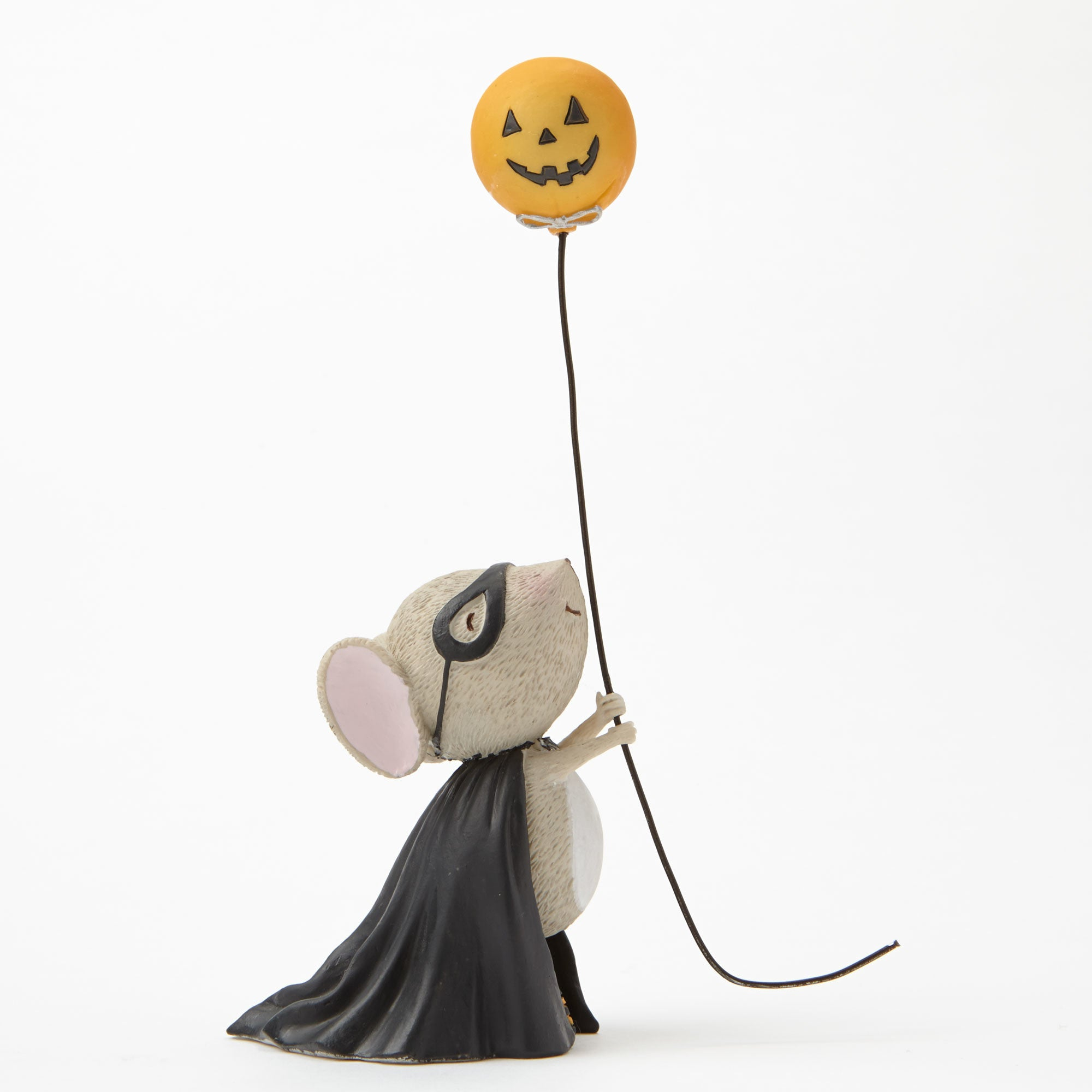 Stacey Yacula Mouse with Pumpkin Balloon Halloween Figurine