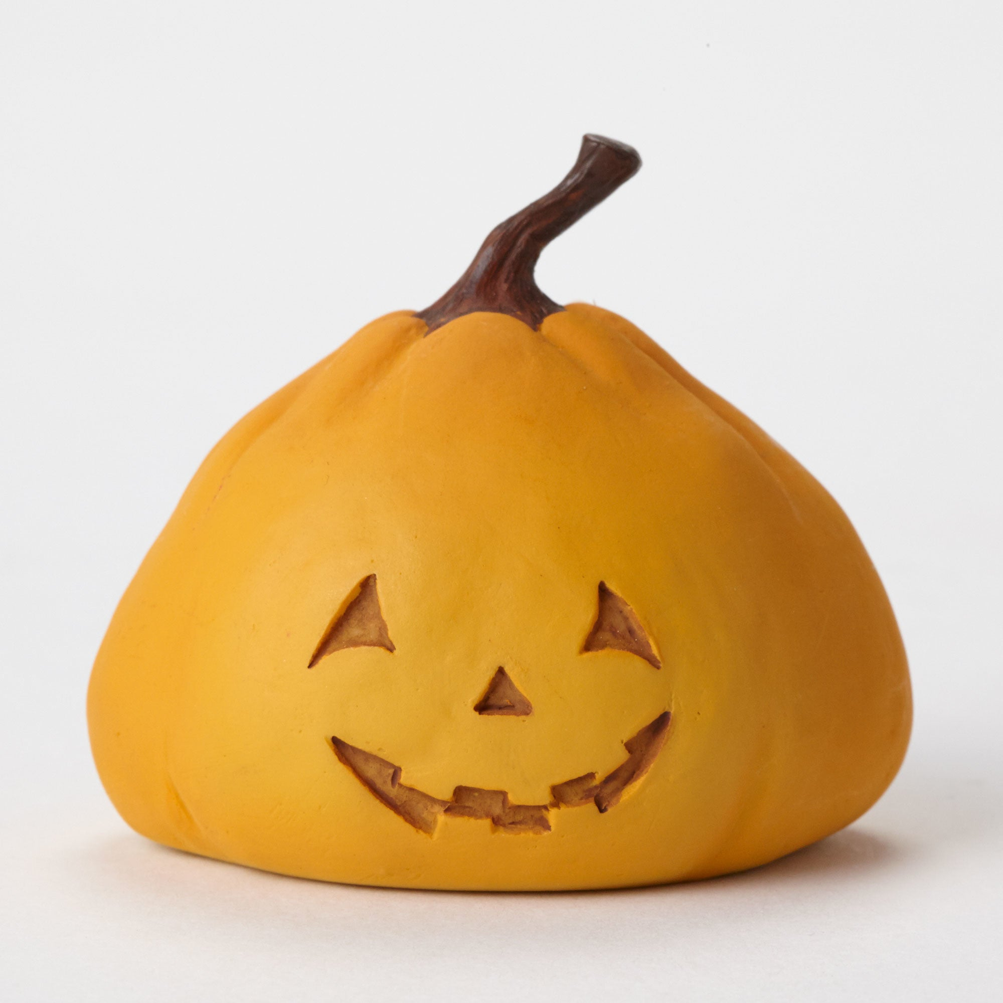 Mini Halloween Pumpkin Figurine - Smiling Jack-O-Lantern