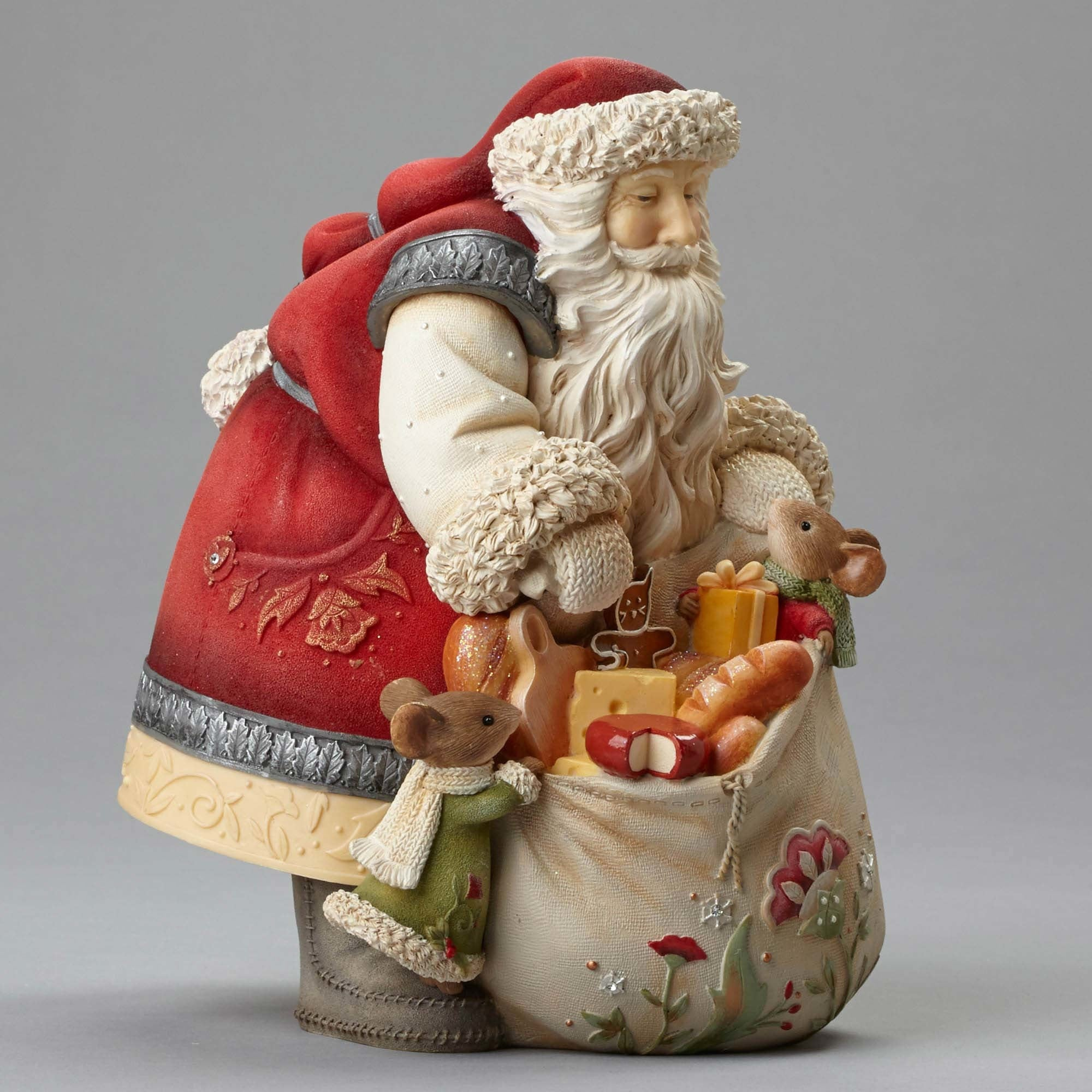 Santa with A Bag Full of Gifts for Mice Figurine
