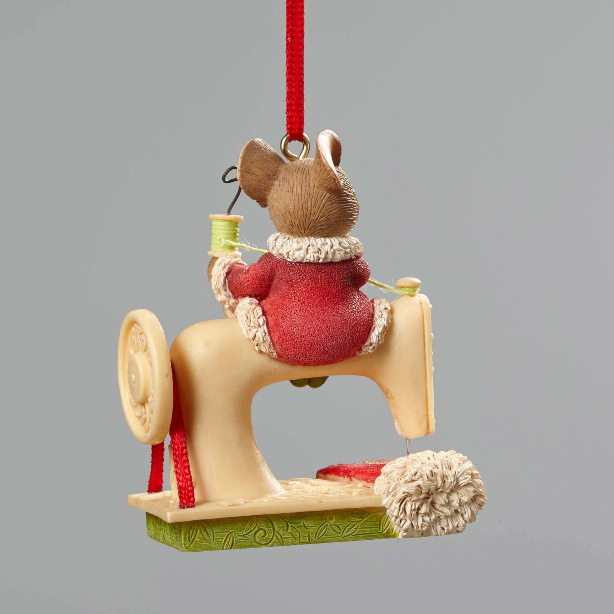 Mouse Sewing Machine Ornament - Backside